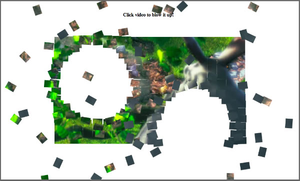 Blowing up HTML5 video and mapping it into 3D space   Craftymind